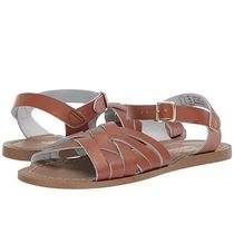SALT WATER SANDALS Open Toe Casual Style Plain Leather Shoes