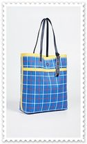 TORY SPORT Other Plaid Patterns Casual Style A4 Plain Totes