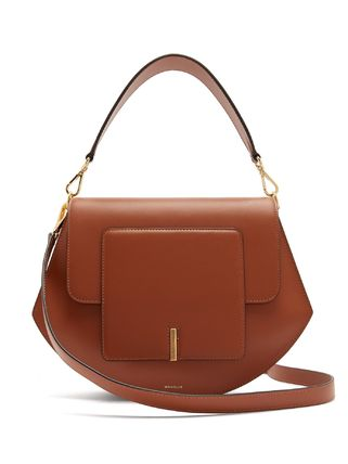 Street Style Plain Leather Elegant Style Crossbody Handbags
