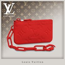 Louis Vuitton TAURILLON Street Style Chain Leather Coin Cases