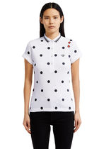 FRED PERRY Dots Street Style Cotton Short Sleeves Polo Shirts