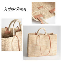 & Other Stories Blended Fabrics 2WAY Plain Straw Bags