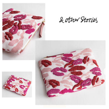 Canvas Blended Fabrics With Jewels Pouches & Cosmetic Bags