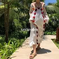 Tropical Patterns Casual Style Maxi Blended Fabrics