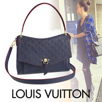Louis Vuitton MONOGRAM EMPREINTE Blended Fabrics Street Style With Jewels Mothers Bags