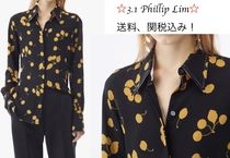 3.1 Phillip Lim Flower Patterns Long Sleeves Shirts & Blouses