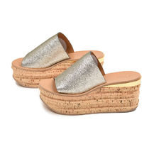 Chloe Camille Casual Style Leather Flip Flops Flat Sandals