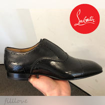 Christian Louboutin Loafers Plain Leather Handmade Loafers & Slip-ons