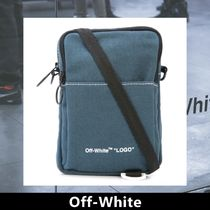 Off-White Casual Style Unisex Shoulder Bags