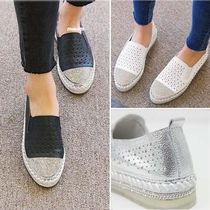 Round Toe Casual Style Plain Slip-On Shoes