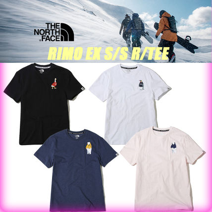 THE NORTH FACE More T-Shirts Unisex Street Style U-Neck Cotton T-Shirts 16