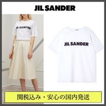 Jil Sander Crew Neck Short Unisex Plain Cotton Short Sleeves Cropped
