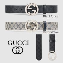 GUCCI GG Supreme Leather Belts