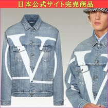 VALENTINO Short Denim Plain Jackets