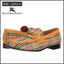 Burberry Tartan Loafers Blended Fabrics Chain Loafers & Slip-ons
