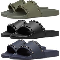 VALENTINO Unisex Studded Shower Shoes Shower Sandals