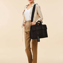 MARHEN.J Casual Style Unisex Canvas A4 Plain Crossbody Logo