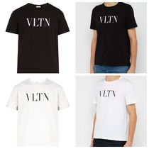 VALENTINO Crew Neck Unisex Street Style Cotton Short Sleeves
