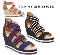 Tommy Hilfiger Open Toe Platform Casual Style Plain