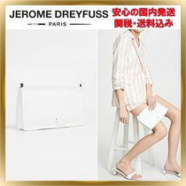 Jerome Dreyfuss Lambskin Plain Party Style Clutches