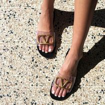 VALENTINO Casual Style Street Style Plain PVC Clothing Sandals