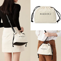 MARHEN.J Casual Style Unisex Canvas Plain Purses Shoulder Bags