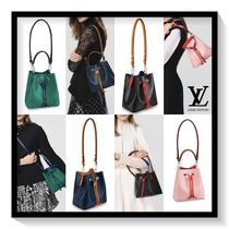 Louis Vuitton Casual Style Blended Fabrics 2WAY Plain Leather Purses