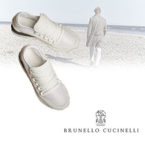 BRUNELLO CUCINELLI Casual Style Suede Blended Fabrics Street Style Plain