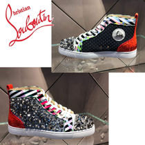 Christian Louboutin Stripes Studded Sneakers