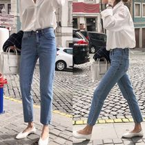 Street Style Plain Cotton Long Skinny Jeans