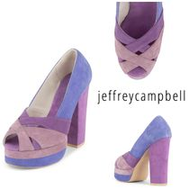 Jeffrey Campbell Open Toe Leather Peep Toe Pumps & Mules