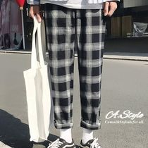 Tapered Pants Other Check Patterns Street Style