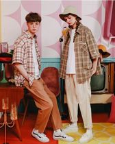 WV PROJECT Other Check Patterns Casual Style Unisex Street Style Cotton