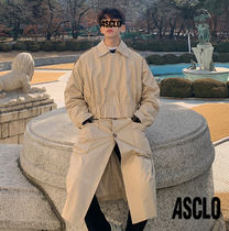 ASCLO Plain Long Trench Coats