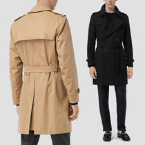 Burberry Other Check Patterns Unisex Blended Fabrics Trench Coats