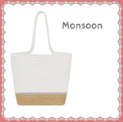 Bi-color Plain Straw Bags