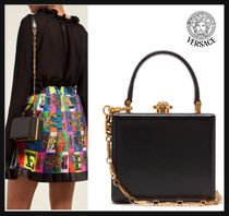 VERSACE 2WAY Leather Party Style Party Bags
