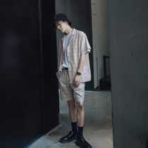 Gingham Other Check Patterns Sweat Street Style Cargo Shorts