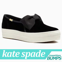 kate spade new york Street Style Collaboration Plain Low-Top Sneakers