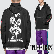 PLEASURES Street Style Plain Varsity Jackets