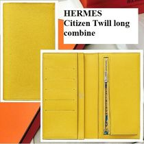 HERMES Calfskin Handmade Long Wallets