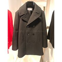 CELINE Casual Style Wool Plain Medium Peacoats
