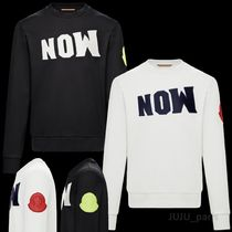 MONCLER MONCLER GENIUS Crew Neck Long Sleeves Plain Logos on the Sleeves