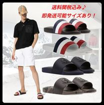MONCLER Stripes Street Style Shower Shoes Logo Shower Sandals