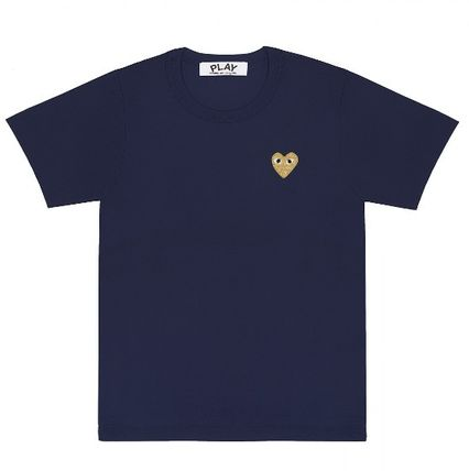 COMME des GARCONS More T-Shirts Heart Unisex Street Style U-Neck Plain Cotton Short Sleeves 6