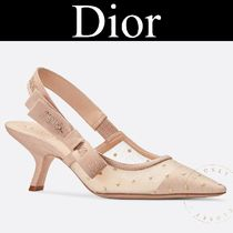 Christian Dior JADIOR Dots Casual Style Blended Fabrics Street Style Pin Heels