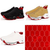 Christian Louboutin Spike Sock Studded Plain Handmade Sneakers