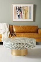 Anthropologie Gold Furniture Coffee Tables Table & Chair