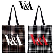 Victoria&Albert Other Check Patterns Casual Style Totes