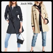 Jack Wills Stand Collar Coats Casual Style Trench Coats
